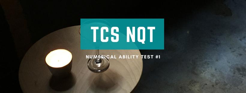 TCS Numerical Ability #1