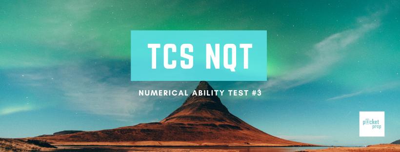 TCS Numerical Ability #3