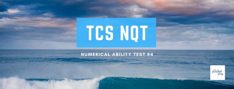 TCS Numerical Ability #4